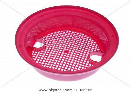 Tamiz arena plástico rosado
