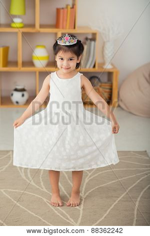 Cute little girl in tiara