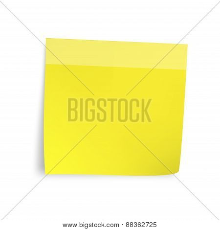 Yellow sticker paper note.