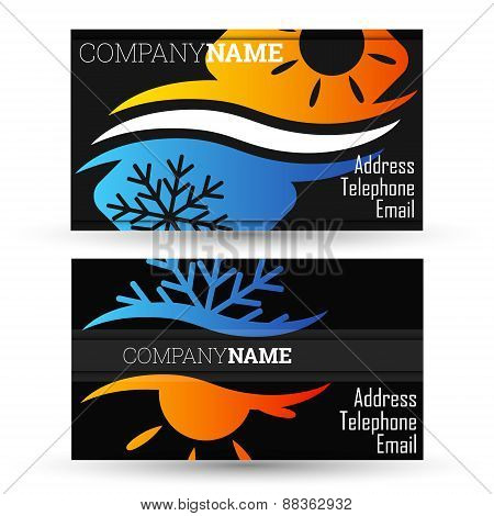 Business card air conditioning