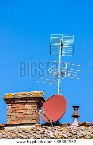 Tv Aerial And Satellite Dish