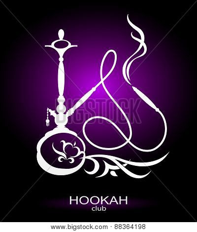 Hookah picture for vector