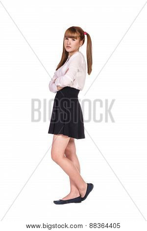 Teenage schoolgirl in formal clothes