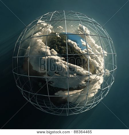 planet in a cage