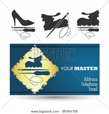 Shoe repair business card master