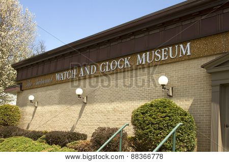 National Clock And Watch Museum Sign