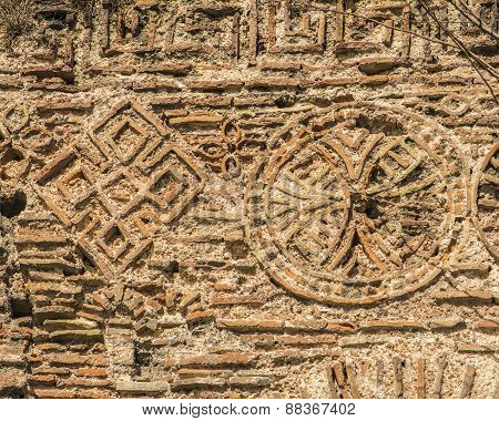 background texture of the ruins of ancient Constantinople