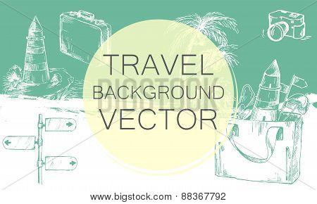 Travel background color.