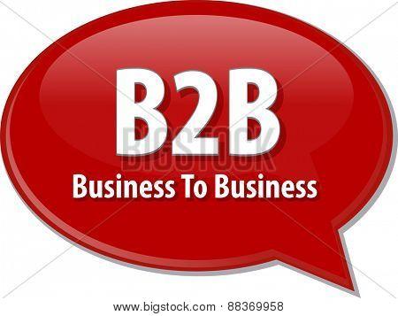 B2B acronym word speech bubble illustration
