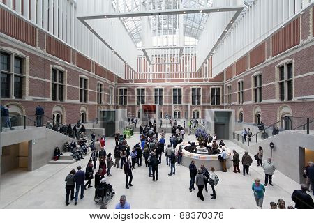 Main Hall Of The Rijksmuseum In Amsterdam