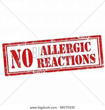 No Allergic Reactions-stamp