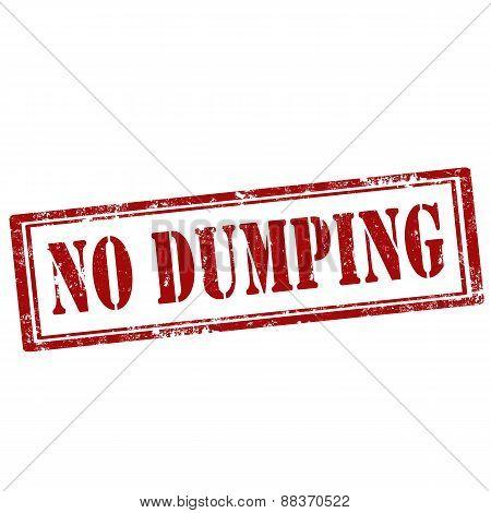 No Dumping-stamp