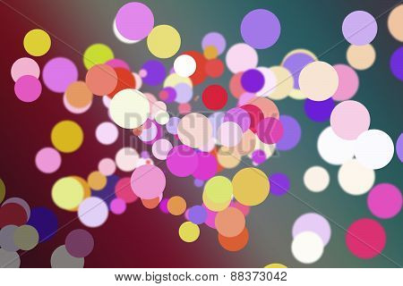 Colourful circles on gradient background