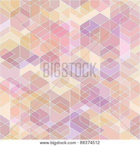 Abstract Geometric Background With Polygons.