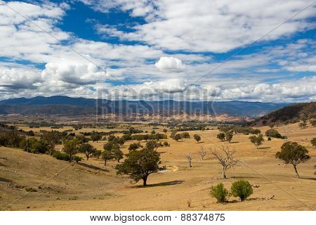Australian Rural Scene near Snowy Mountains