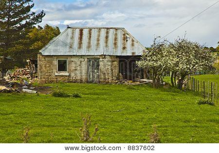 Homestead on the Verge of Ruin in the Australian Bush