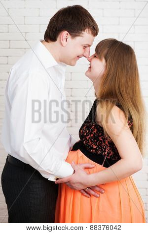 Beautiful Young Couple Expecting Baby