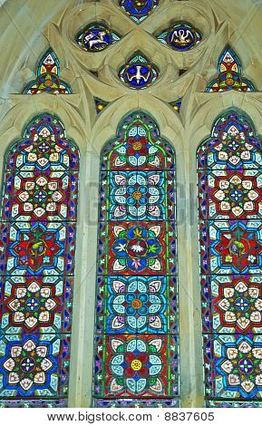 Stained Glass Windows featuring Geometric Patterns