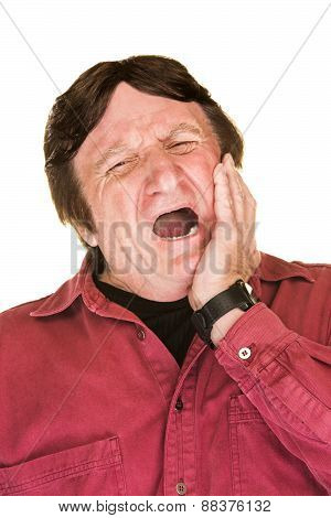 Yawning Mature Man