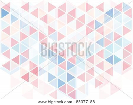 Pastel Triangle Geometric Abstract Background
