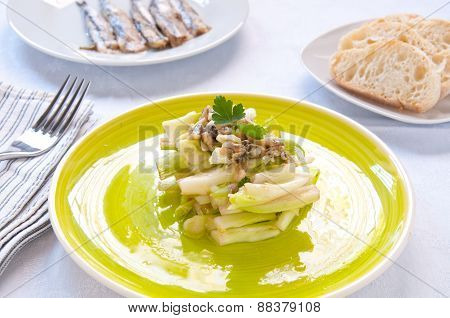 Chicory salad typical of the city of Rome