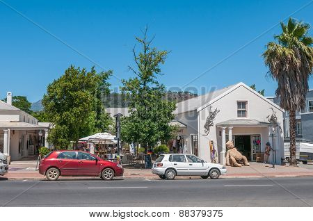 Street Scene In Franschoek