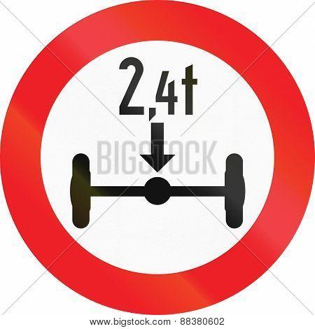 Axle Load Limit In Austria