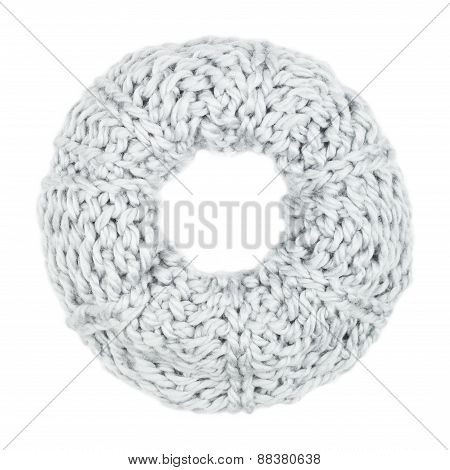 Woolen Scarf  Isolated On White Background.
