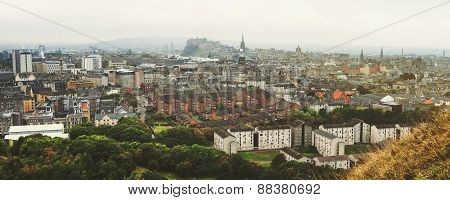 Panoramic aerial view of Edinburgh
