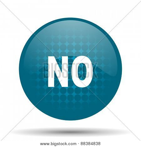 no blue glossy web icon