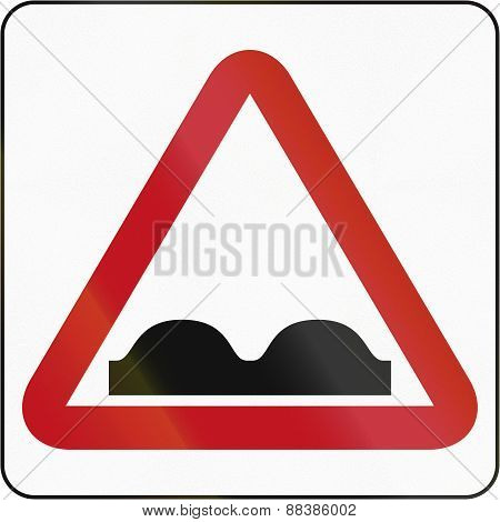 Bruneian Uneven Road Sign