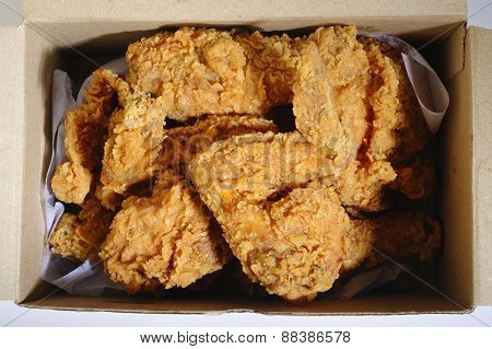 Fried Chicken In Delivery Box