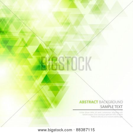 Abstract polygonal triangles poster.