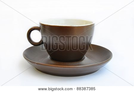 cup and saucer isolated on a white background