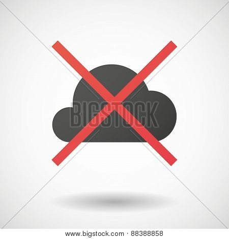 Not Allowed Icon With A Cloud