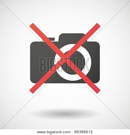 Not Allowed Icon With A Photo Camera