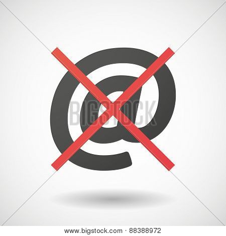 Not Allowed Icon With An