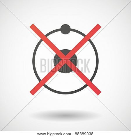 Not Allowed Icon With An atom
