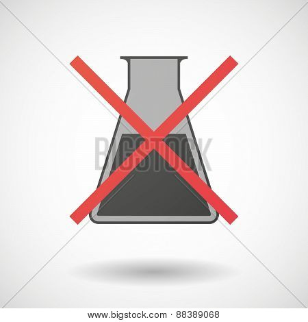 Not Allowed Icon With A Chemical Test Tube