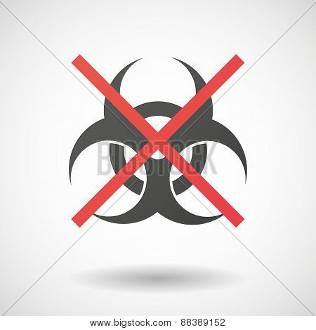 Not Allowed Icon With A Biohazard Sign