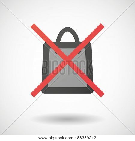 Not Allowed Icon With A Shopping Bag