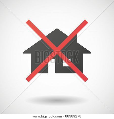Not Allowed Icon With A House