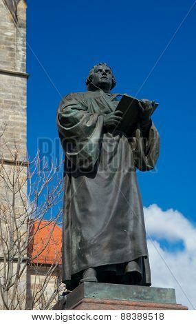 Monument Of Martin Luther, Erfurt, Germany