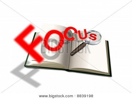 Open book and focus