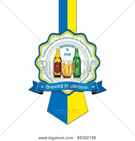 Brewed in Ukraine - Beer sticker advertising