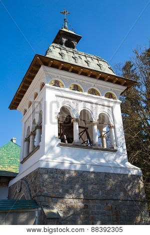 Bell tower at Sinaia Monastery, Romania