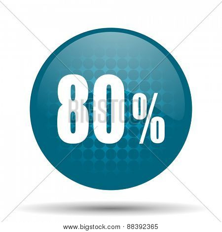80 percent blue glossy web icon