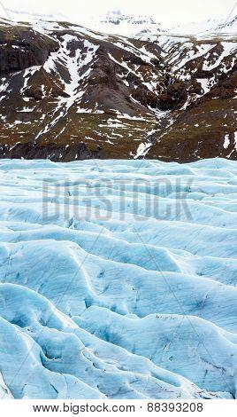 Panorama Svinafell Glacier national park, Iceland