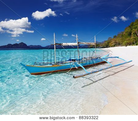 Tropical beach, South China See, El-Nido, Philippines