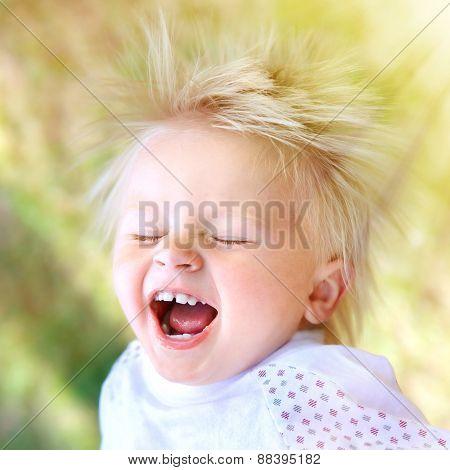 Happy Little Child Outdoor